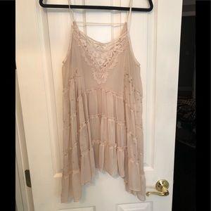 Free People Ivory Lace Top/ Slip Dress
